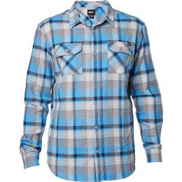 Fox Racing Mens Traildust Long Sleeve Flannel Blue