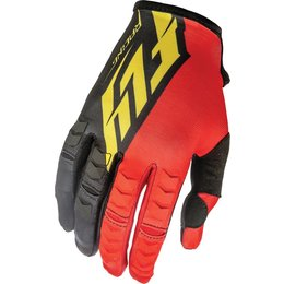 Fly Racing Mens Kinetic Textile Gloves Red