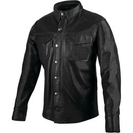 Speed & Strength Mens Killswitch Leather Moto Shirt Black