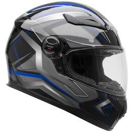 Vega AT2 AT-2 Flash Graphic Full Face Motorcycle Helmet With Flip-Up Shield Grey