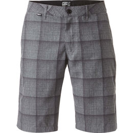 Fox Racing Mens Essex Tech Plaid Shorts Grey