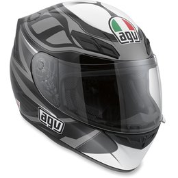 Black, Gunmetal Agv Mens K4 Evo Diapason Full Face Helmet 2013 Black Gunmetal