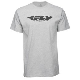 Fly Racing Mens Corporate T-Shirt Grey
