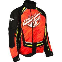 Orange, Black Fly Racing Mens Snx Pro Snow Jacket 2015 Orange Black