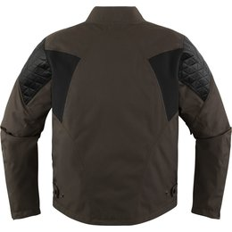 Icon Mens 1000 Collection Squalborn Armored Waterproof Textile Jacket Brown
