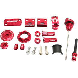 Moose Racing Aluminum Bling Pack Honda CRF230F Red 1231-0902 Red