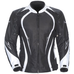 Black, White Cortech Womens Lrx Series 3 Textile Jacket Black White