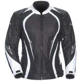 Black, White Cortech Womens Lrx Series 3 Textile Jacket Black White