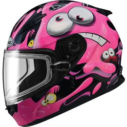 GMax Youth Girls GM49Y Slimed Snow Helmet With Dual Pane Shield Pink
