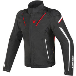 Dainese Mens Stream Line D-Dry Armored Textile Jacket Black