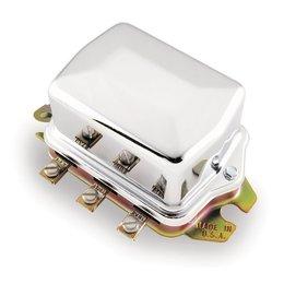 Chrome Accel Electro-mechanical Regulator For Harley Fl Flh 65-77