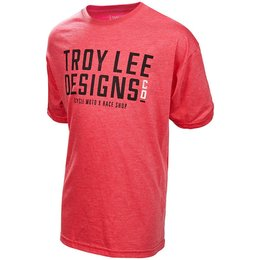 Troy Lee Designs Youth Boys Step Up Cotton Graphic T-Shirt Red
