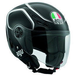 Black, White Agv Mens Blade Tab Open Face Helmet 2013 Black White