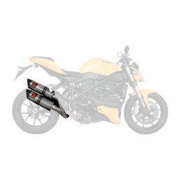 Akrapovic Slip-On Line Series W Hexagonal Muffler For Ducati Streetfighter