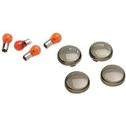 Drag Specialties Bullet Turn Signal Lenses With Bulbs 4 Pk For Harley 0906-6315