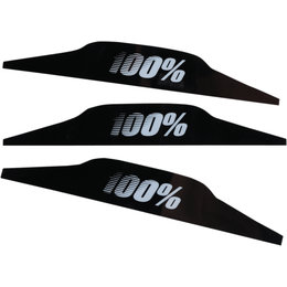 100% Speedlab Vision System Goggle Replacement Mudflaps 3 Pack Black
