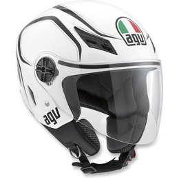 White, Black Agv Mens Blade Tab Open Face Helmet 2013 White Black