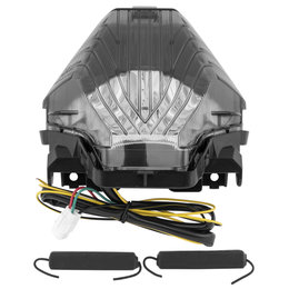 BikeMaster Integrated Smoke LED Taillight For Yamaha FZ07 TZY-340-INT-S Unpainted
