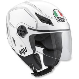 White, Grey Agv Mens Blade Tab Open Face Helmet 2013 White Grey
