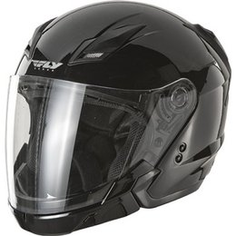 Gloss Black Fly Racing Tourist Open Face Helmet 2013