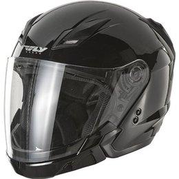 Gloss Black Fly Racing Tourist Open Face Helmet 2013