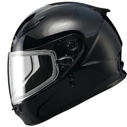 GMAX Youth GM49YS Full Face Snowmobile Helmet With Flip-Up Shield Black