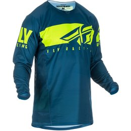 Fly Racing Mens Kinetic Shield Jersey Blue