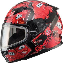 GMax Youth GM49Y Attack Snow Helmet With Dual Pane Shield Red