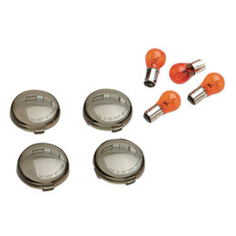 Drag Specialties Bullet Turn Signal Lenses With Bulbs 4 Pk For Harley 0906-6316