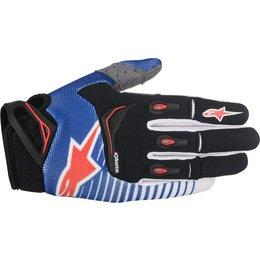 Alpinestars Mens Techstar MX Motocross Offroad Textile Riding Gloves Black