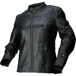 Z1R Womens 243 Leather Motorcycle Riding Jacket Black