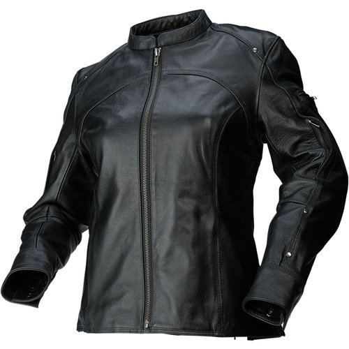 19995 Z1R Womens 243 Leather Motorcycle Riding Jacket -4121