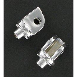 Kuryakyn Splined Footpeg Adapters Front Chrome Metric