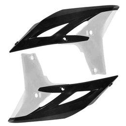 2010 Black, White Acerbis Radiator Scoops 10 Black White For Yamaha Yz450f
