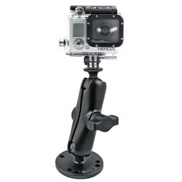 RAM Mount Complete Mount Kit Flat Surface Mount With GoPro Hero Adapter