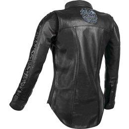 Speed & Strength Womens Black Heart Leather Moto Shirt Black