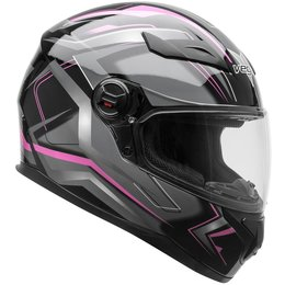 Vega Womens AT2 AT-2 Flash Full Face Motorcycle Helmet With Flip-Up Shield Grey