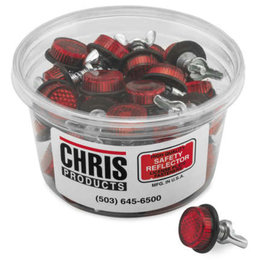 Chris Products License Plate Safety Reflectors 40 Count Universal Red CH40R Red