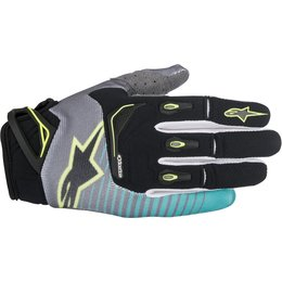 Alpinestars Mens Techstar MX Motocross Offroad Textile Riding Gloves Black
