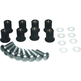 SPI 9mm X 16mm Snowmobile Windshield Screw Kit 8-Pack Yamaha Black SM-06013 Black