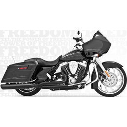 Freedom Performance Exhaust Union 2-Into-1 Black For Harley FLH FLT 1995-2013