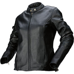 Z1R Womens 357 Leather Motorcycle Riding Jacket Black