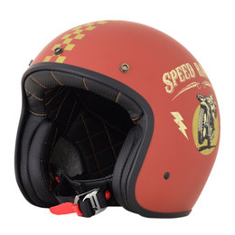 AFX FX-76 FX76 Speed Racer Open Face Helmet Orange