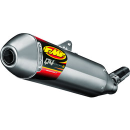 FMF Racing Q4 Hex S/A Slip-On Muffler KTM Stainless Steel Aluminum 045590 Unpainted