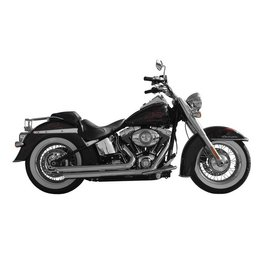 Chrome Rush Crossover Exhaust Full System Angled 1.75 For Harley Softail 07-10