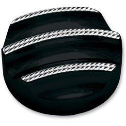 Black Covingtons Dipstick Cover Diamond For Harley Flh Flt 07-10