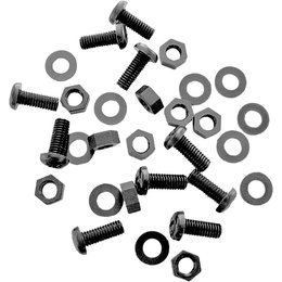 SPI 5mm X 12mm Universal Snowmobile Windshield Screw Kit 10-Pack Black SM-06054 Black