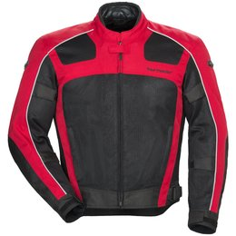 Tour Master Mens Draft Air Series 3 Armored Mesh Textile Riding Jacket Red