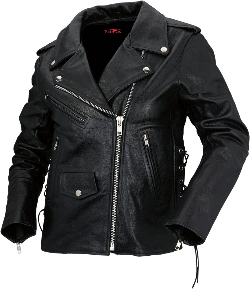 16995 Z1R Womens 9Mm Leather Motorcycle Riding Jacket -3359