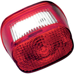 Drag Specialties Replacement Rectangular Taillight Lens For Harley Red 7805-5054